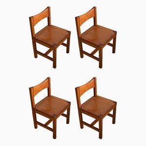 Mid-Century Modern Esszimmerstühle aus Kiefernholz von Ilmari Tapiovaara für Laukaan Pu, 4er Set