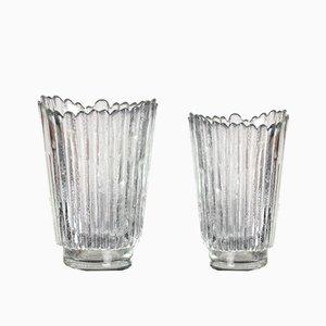 Glass Vase by Pavel Panek for Libochvice, 1979