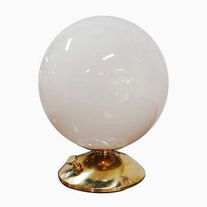 Weiße Vintage Kugel Tischlampe
