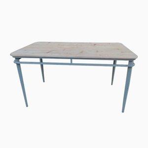 Vintage Iron & Wood Dining Table