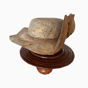 Late Medieval French Carved Wooden Hat