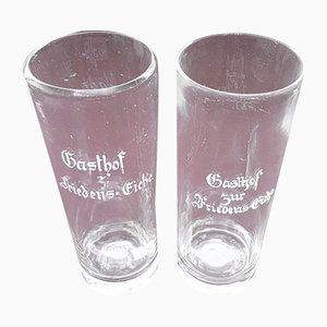19th Century German Beer Glasses, Set of 2