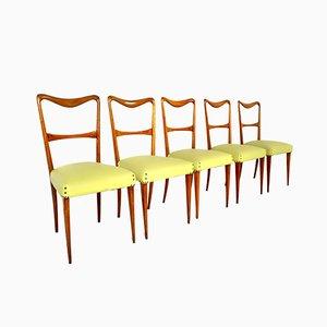 Chaises de Salon Style Paolo Buffa, Italie, 1950s, Set de 5