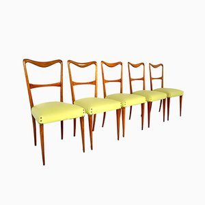 Sedie da pranzo in stile Paolo Buffa, Italia, anni '50, set di 5