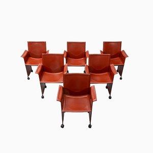 Korium Sessel von Tito Agnoli für Matteo Grassi, 1974, 6er Set