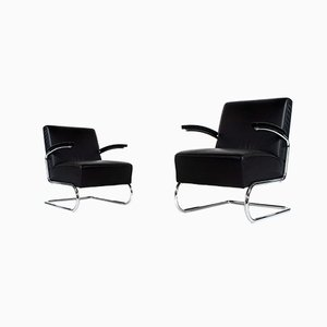 Model S411 Lounge Chairs from Thonet, 1980s, Set of 2