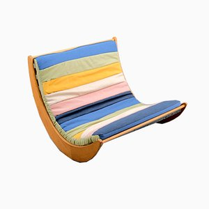 Sedia a dondolo relax a due posti di Verner Panton per Rosenthal, anni '70