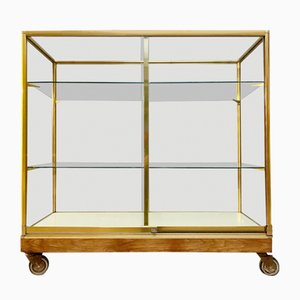 Brass 2-Door Display Cabinet, 1960s