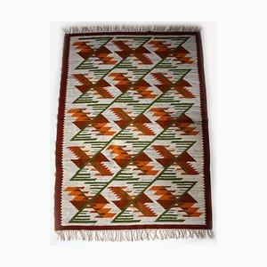 Mid-Century Wool Geometric Carpet from Cepelia, 1960s