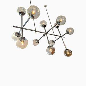 Large Chrome Ceiling Lamp from Kinkeldey, 1970s
