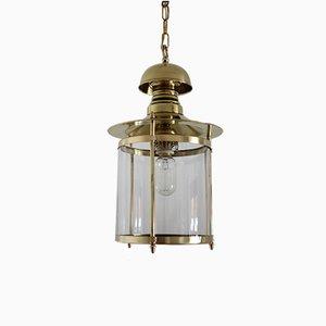 Italian Brass and Glass Pendant Lamp, 1960s