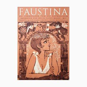 Vintage Faustina Film Poster, 1970s