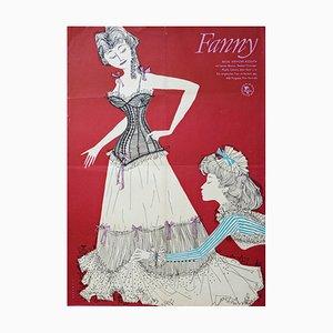 Vintage Fanny Filmplakat, 1960er