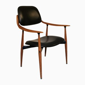 Danish Leather Chair from Hagafors, 1960s