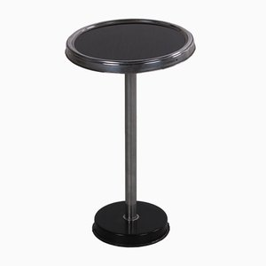 Art Deco Black Side Table with Metal Frame, 1970s