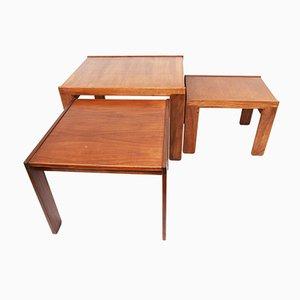 Tavolini da caffè modello 777 in noce di Tobia & Afra Scarpa per Cassina, anni '60, set di 3