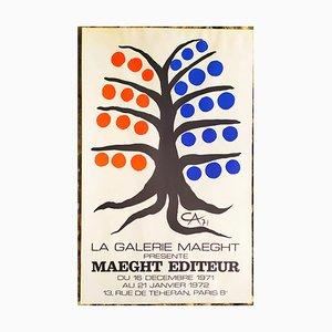 Alexander Calder Lithographie Poster, 1971