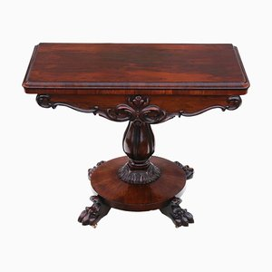 Rosewood Folding Game Table, 1820s