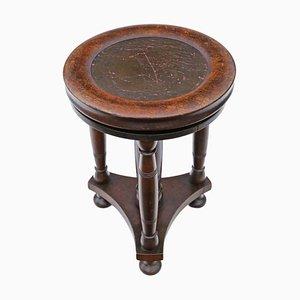 Antique Adjustable Mahogany Piano Stool
