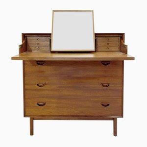 Teak Vanity Dresser with Mirror by Peter Hvidt & Orla Mølgaard-Nielsen, 1970s