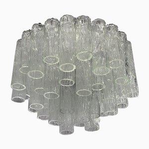Lampadario grande in vetro di Murano di Barovier & Toso, anni '60