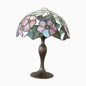 Lampe de Bureau Style Tiffany, 1980s