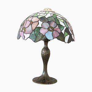Tischlampe im Tiffany Stil, 1980er