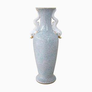 Grand Vase en Porcelaine Peinte à la Main, Italie, 1980s