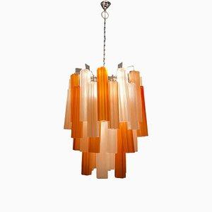Große Murano Glasröhren Deckenlampe, 1970er