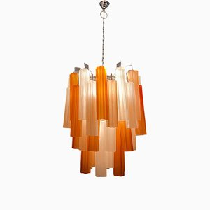 Lampada da soffitto grande in vetro di Murano, anni '70