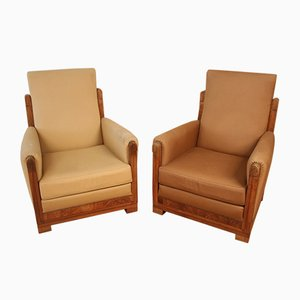 Art Deco Lounge Chairs Attributed To Gauthier Poinsignon, 1920s, Set of 2
