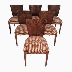 Art Deco Dining Chairs by Jindřich Halabala, 1940s, Set of 6