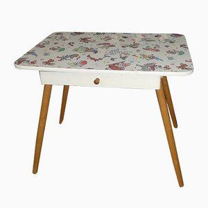 Children's Table with Drawer & Fairytale Motifs, 1970s