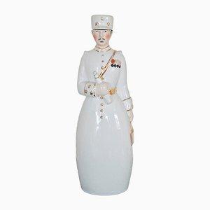 Art Deco Porcelain Sergeant Carafe by ROBJ, 1930s
