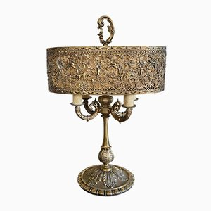 Antique French Bronze Table Lamp, Circa 1910