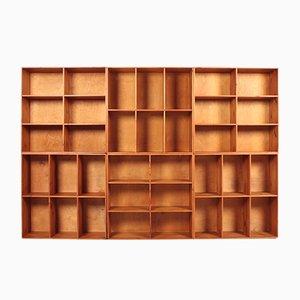 Danish Pine Bookcases from Rud. Rasmussen, 1960s, Set of 6