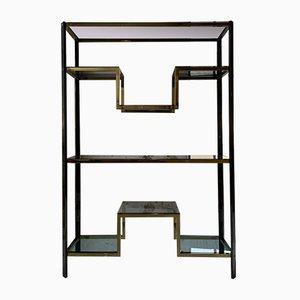 Chrome & Brass Shelf by Guy Lefevre, 1970s