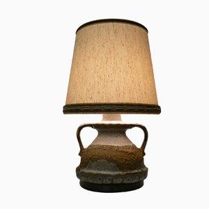 Lámpara de mesa de cerámica Fat Lava de Kaiser Idell, años 70