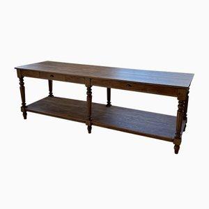Großer Antiker Werktisch aus Eiche