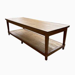 Extra großer Werktisch aus Eiche, 1950er