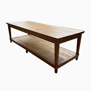 Extra Large Oak Worktable, 1950s
