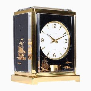 Black Plexiglass Atmos Marina Caravelle Clock from Jaeger LeCoultre, 1968
