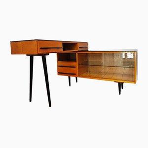 Tschechoslowakische Modulare Schreibtisch & Sideboard Kombination von M. Pozar für UP Zavody, 1960er, 2er Set