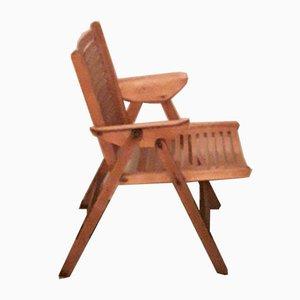 Klappbarer Vintage Sperrholz Patio Stuhl, 1950er