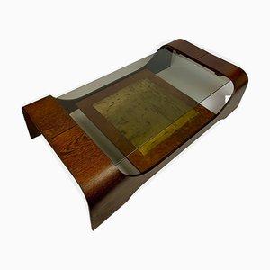 Tavolino da caffè in legno africano, anni '70