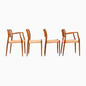 Dining Chairs by Niels Otto Møller for J.L. Møllers, 1960s, Set of 4
