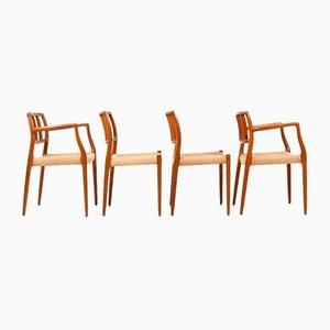 Sedie da pranzo di Niels Otto Møller per JL Møllers, anni '60, set di 4
