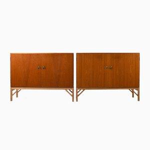 Modell 232 Sideboards von Børge Mogensen für FDB, 1960er, 2er Set