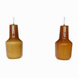 Italian Pendant Lamps by Massimo Vignelli for Venini, 1960s, Set of 2