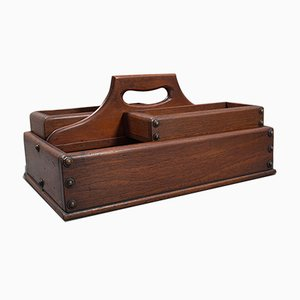 Antique English Edwardian Mahogany Cobbler's Carry Tray